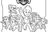 Paw Patrol Coloring Pages - All Paw Patrol Characters Coloring Page