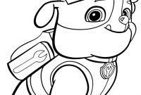 Paw Patrol Coloring Pages - Best Paw Patrol Coloring Pages to Print Zuma Marshall and Page