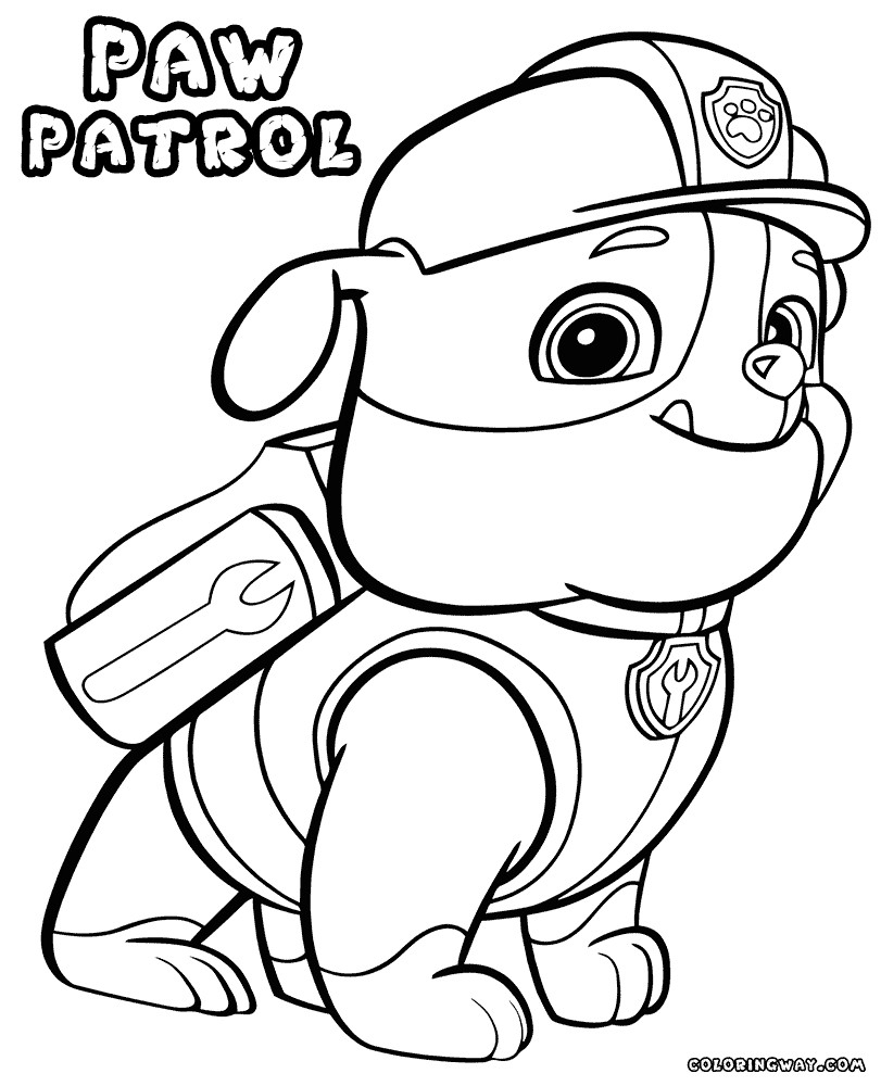 It is a picture of Declarative Free Printable Paw Patrol Coloring Pages