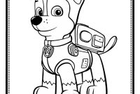 Paw Patrol Coloring Pages - Chase Portrait Free Coloring Page • Animals Kids Paw Patrol