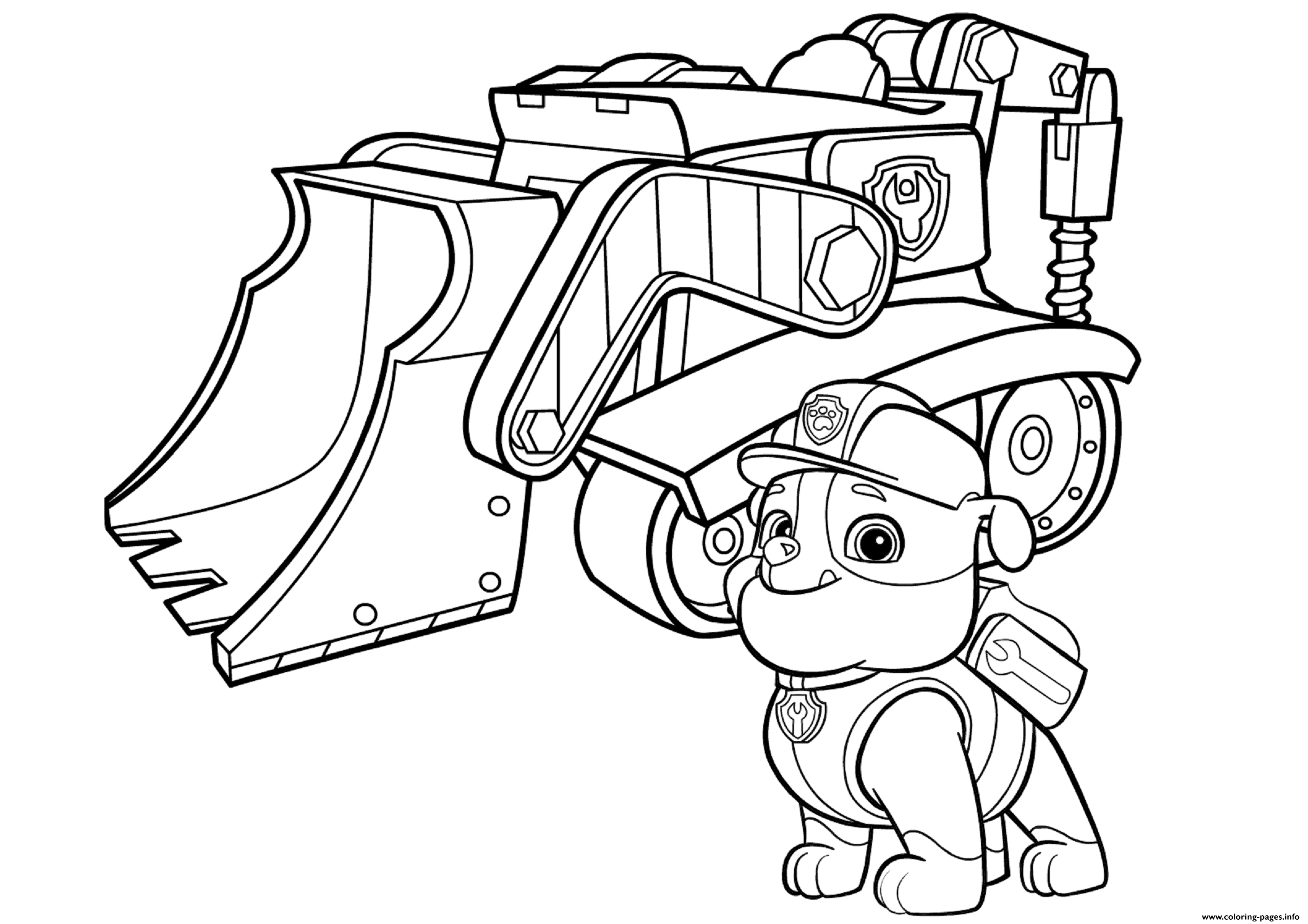 Paw Patrol Coloring Pages Printable 20f - Free For kids