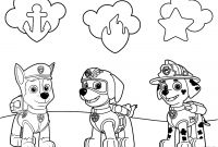 Paw Patrol Coloring Pages - Paw Patrol Badges Coloring Page