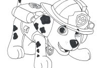 Paw Patrol Coloring Pages - Paw Patrol Marshall Draw 2 Coloring Pages Printable