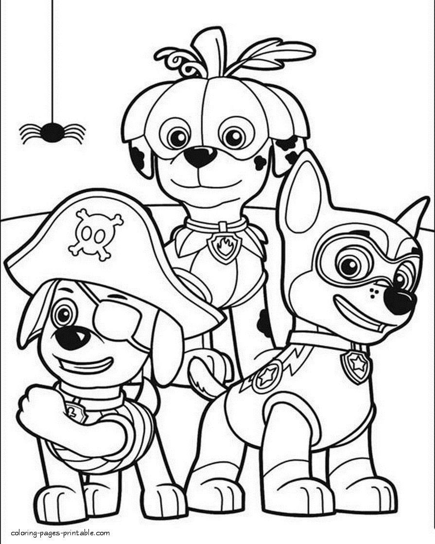 Paw Patrol Coloring Pages Printable 20n - Free For kids