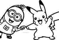 Pokemon Coloring Pages - Minion Pikachu Dance Pokemon Coloring Page Wecoloringpage Free