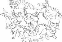 Pokemon Coloring Pages - Pokemon Eevee Evolutions Coloring Pages Gallery