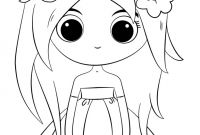 Princess Coloring Pages - Cute Chibi Princess Coloring Page Free Printable Pages In Image