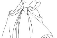Princess Coloring Pages - Disney Princess Cindirella Coloring Page