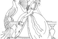 Princess Coloring Pages - Fantasy Princess Coloring Pages