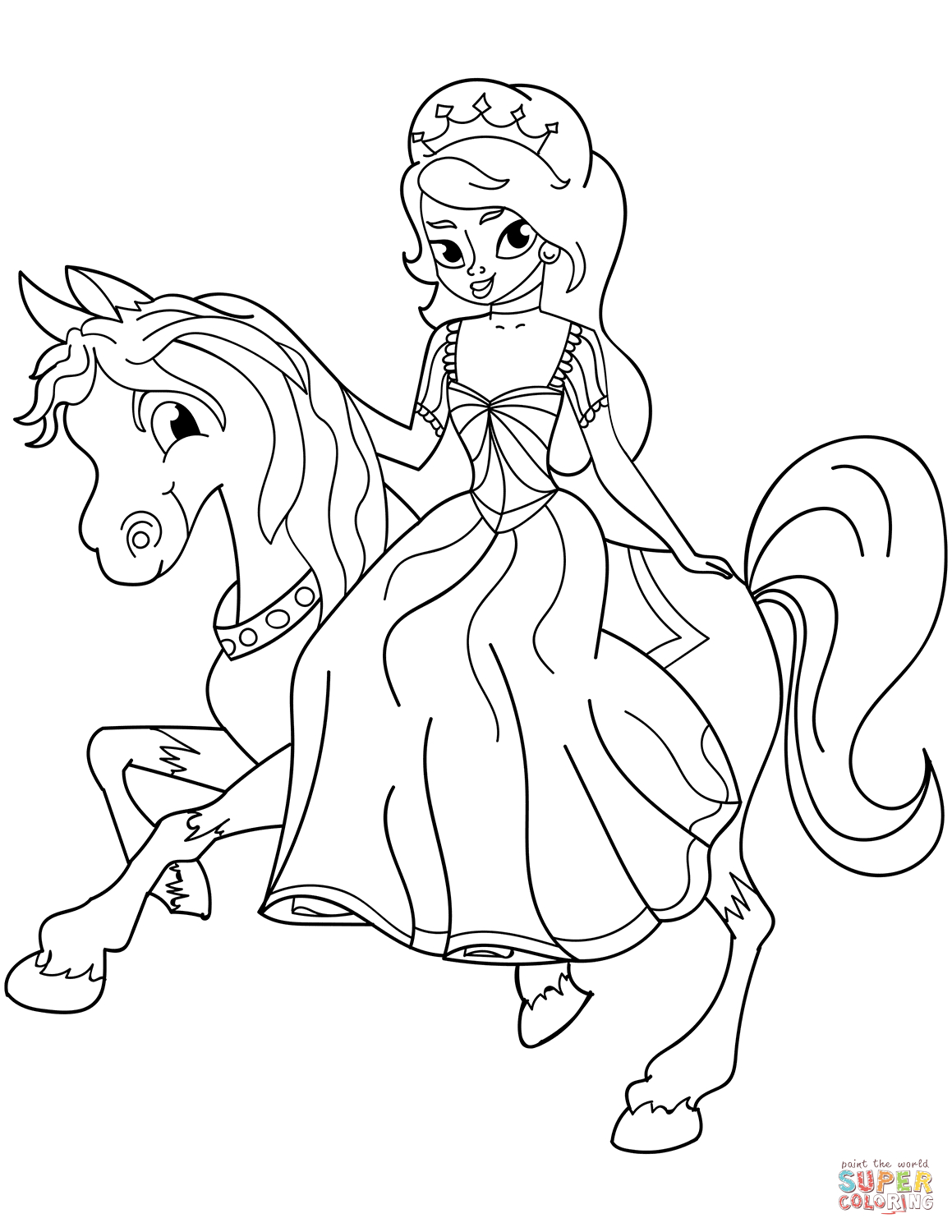 Princess Coloring Pages Collection 7e - Free For kids