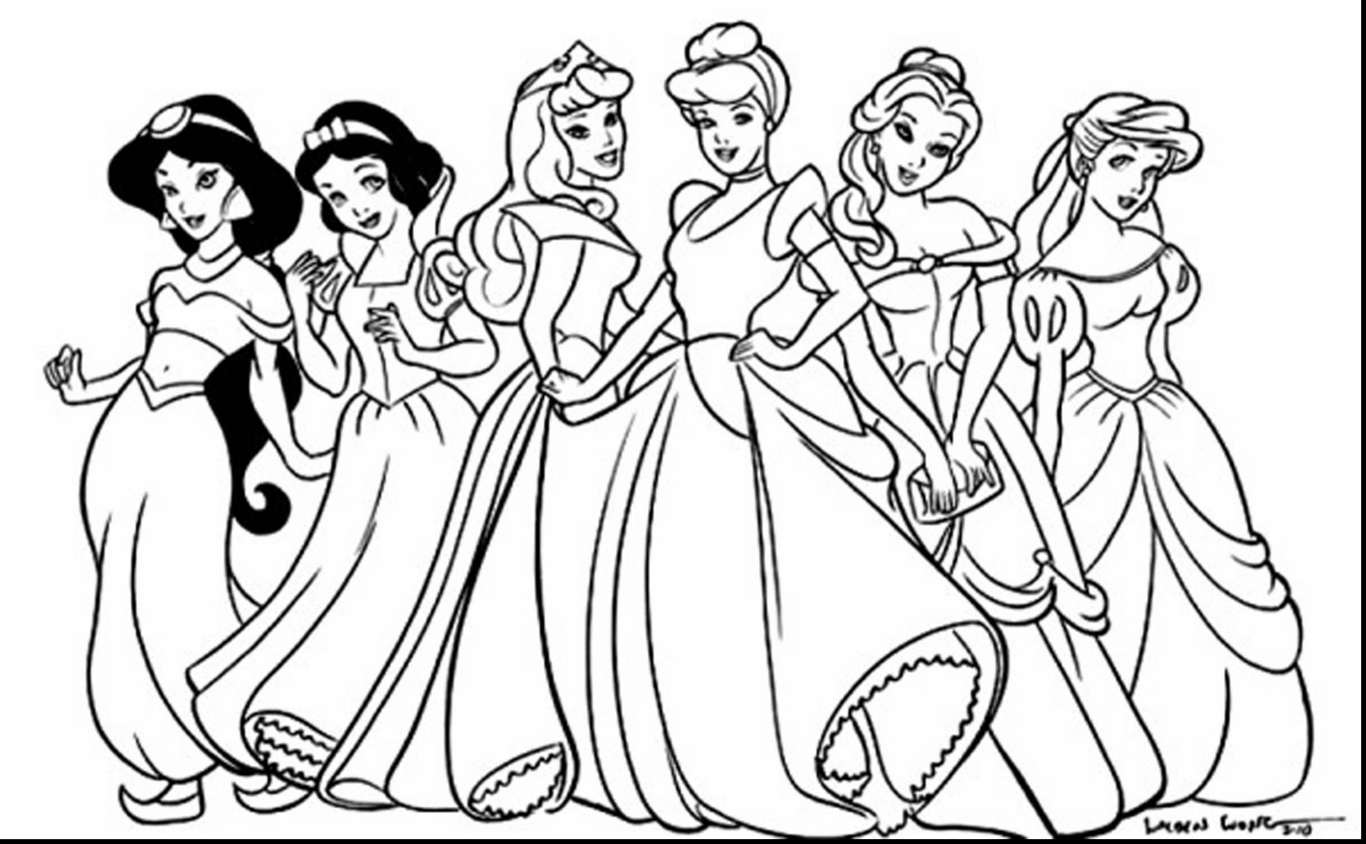 Princess Coloring Pages Collection 4l - Save it to your computer