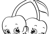 Shopkins Coloring Pages - Cherry Twins Shopkins Free Coloring Page • Kids Shopkins Coloring Pages