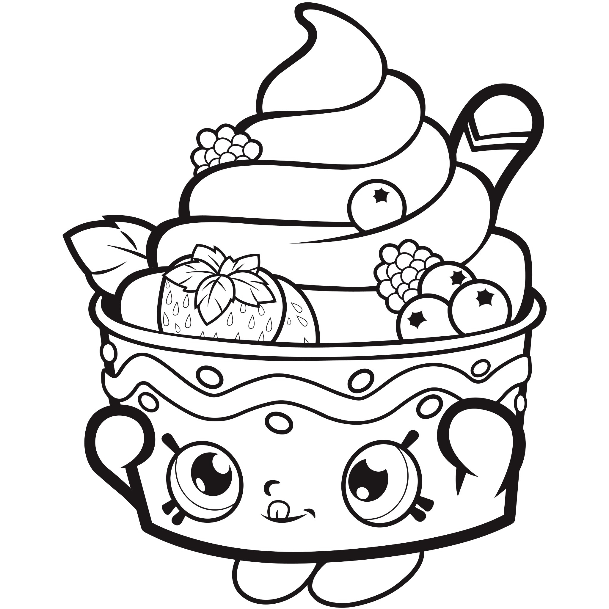 Shopkins Coloring Pages Printable   Free Coloring Sheets