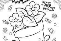 Shopkins Coloring Pages - Shopkins Coloring Pages Season 4 Peta Plant Printables