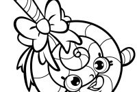 Shopkins Coloring Pages - Strawberry Kiss Shopkins Coloring Page