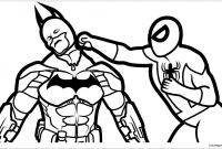 Spiderman Coloring Pages - Batman Vs Spiderman Coloring Page
