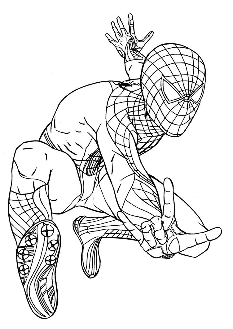 Slobbery image for printable spiderman