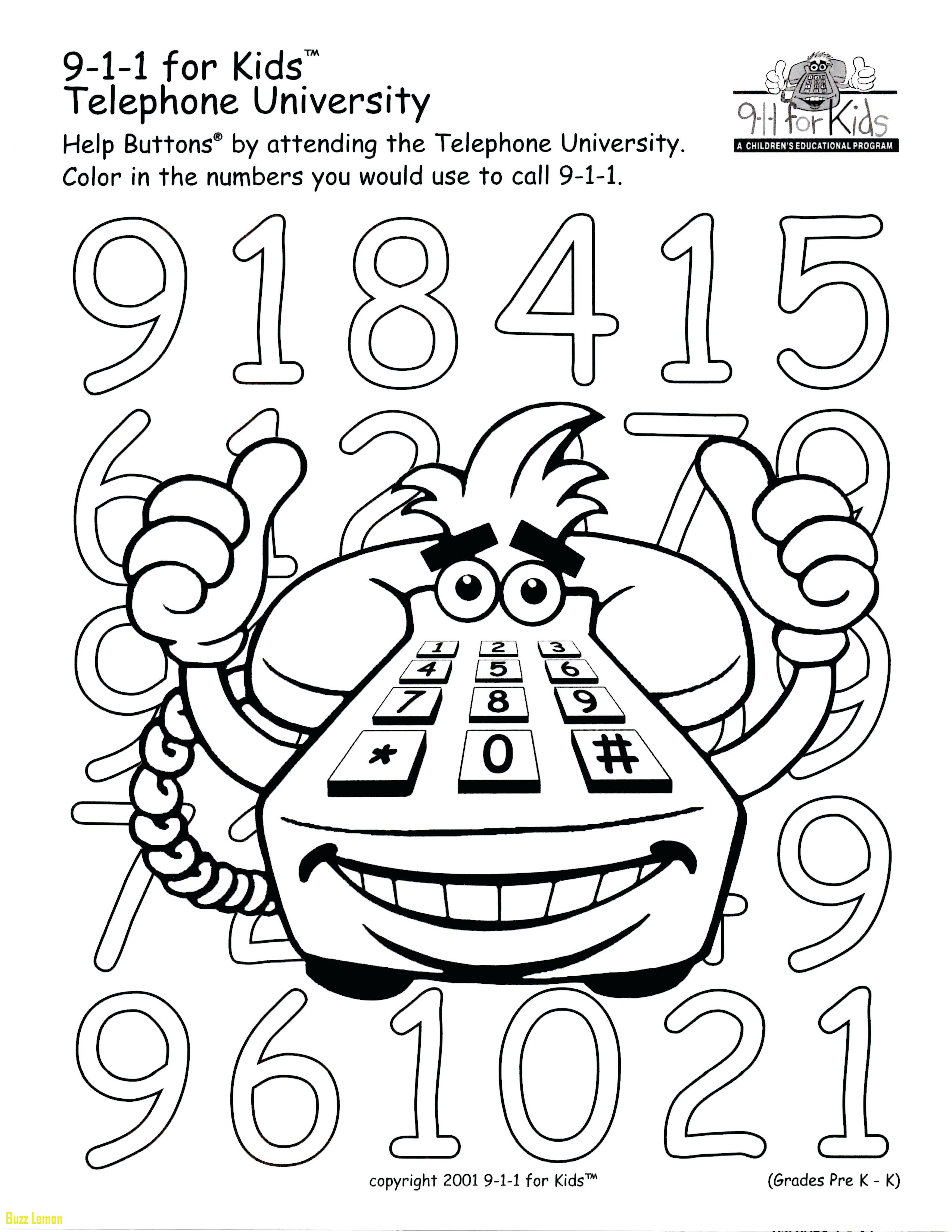 911 Printable Coloring Pages  Gallery 13a - Free For kids