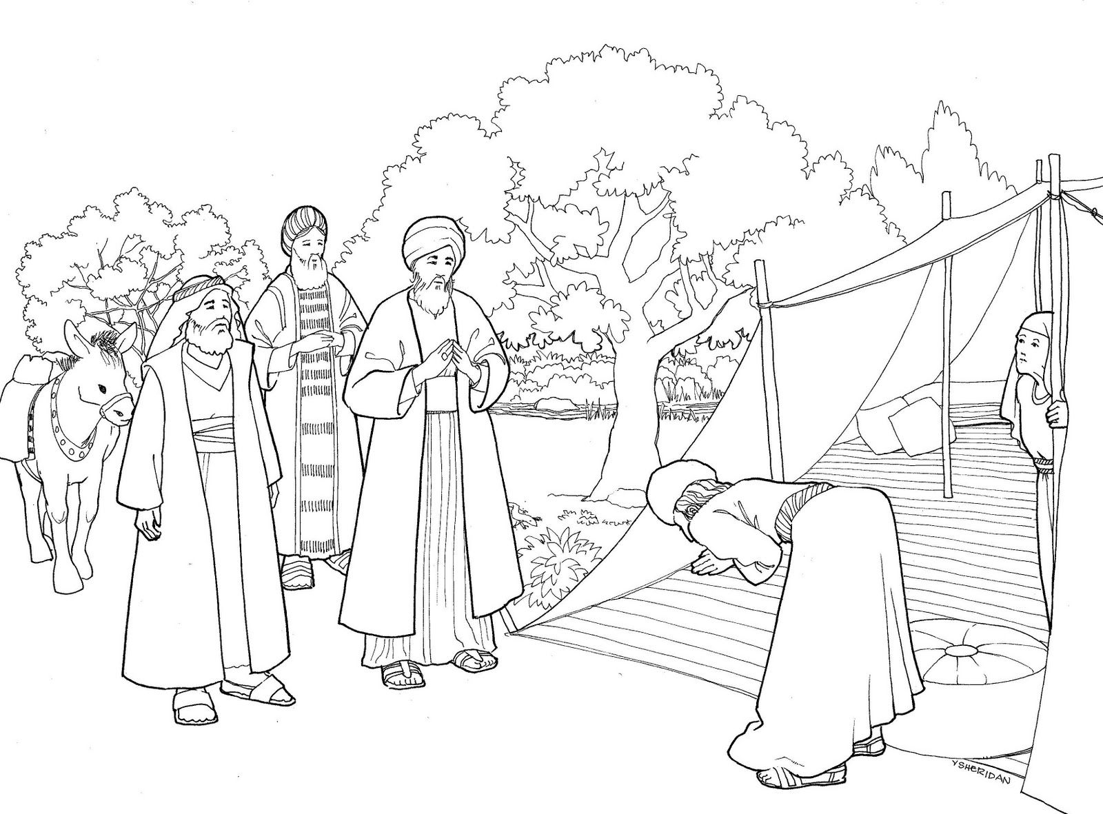 Abraham and Sarah Coloring Pages  Collection 8h - Free Download