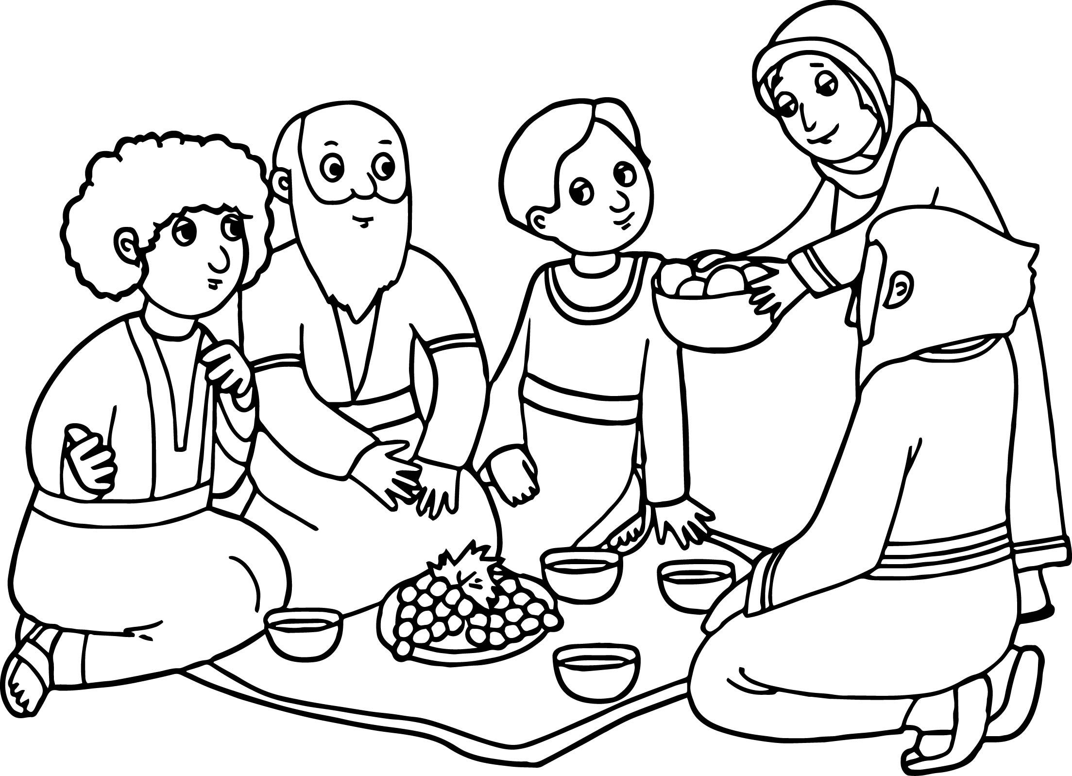 Abraham and Sarah Coloring Pages  Collection 7l - To print for your project