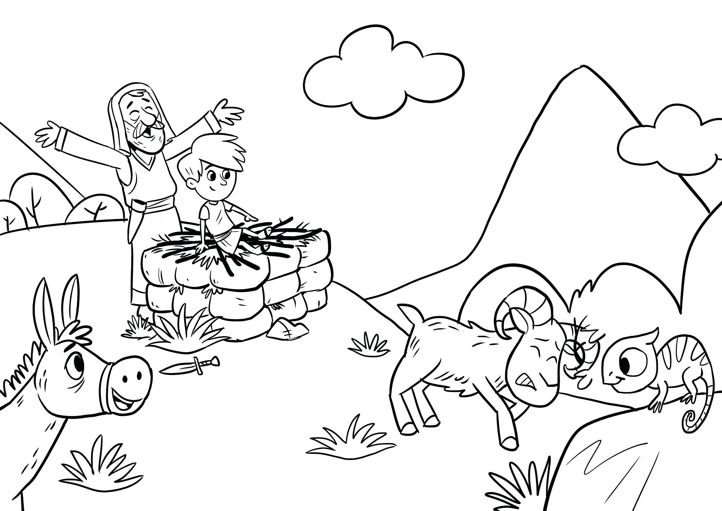 Abraham and Sarah Coloring Pages  Collection 8g - Free For kids