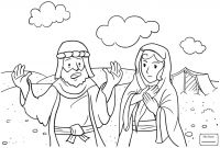 Abraham and Sarah Coloring Pages - Tentmaker Coloring Sheet Pattern to Make A Tent for Paul with Aquila