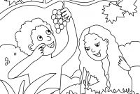 Adam and Eve Coloring Pages - Adam and Eve Coloring Pages Lds