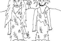 Adam and Eve Coloring Pages - Line Preschool Coloring Pages