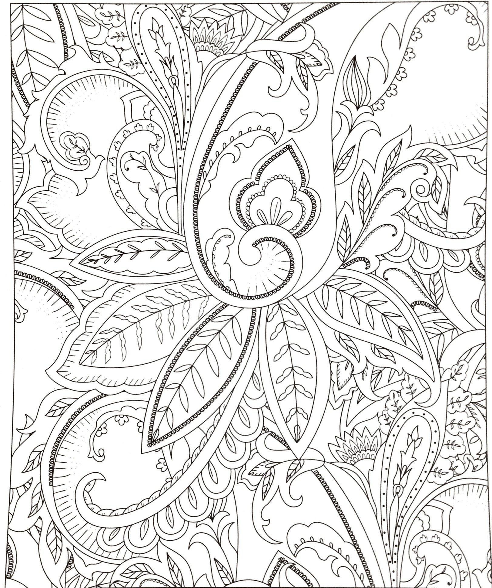 Advanced Coloring Pages Flowers  Collection 2k - Free Download