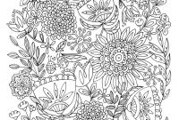 Advanced Coloring Pages Flowers - Free Coloring Pages Printables