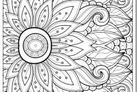 Advanced Coloring Pages Flowers - Full Size Adult Coloring Pages Flowers