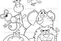 African Safari Coloring Pages - Safari Coloring Page Outlined Jungle Animals