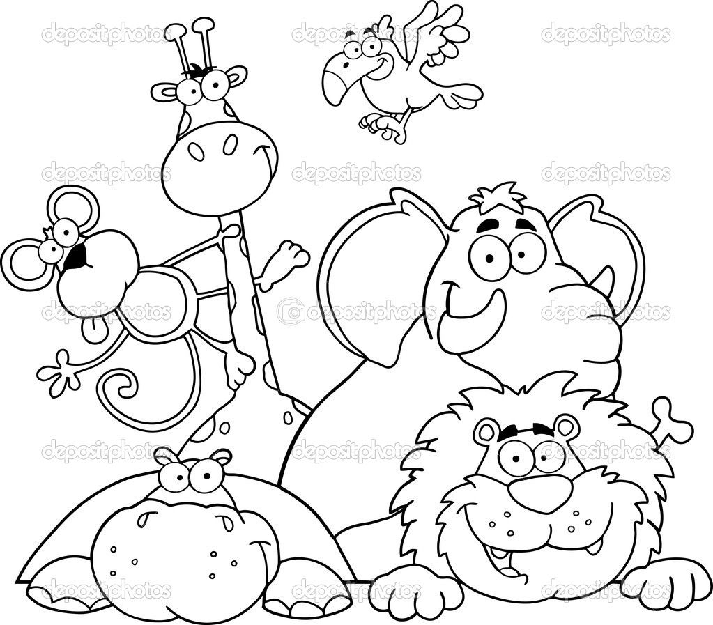 African Safari Coloring Pages  Printable 18i - Save it to your computer