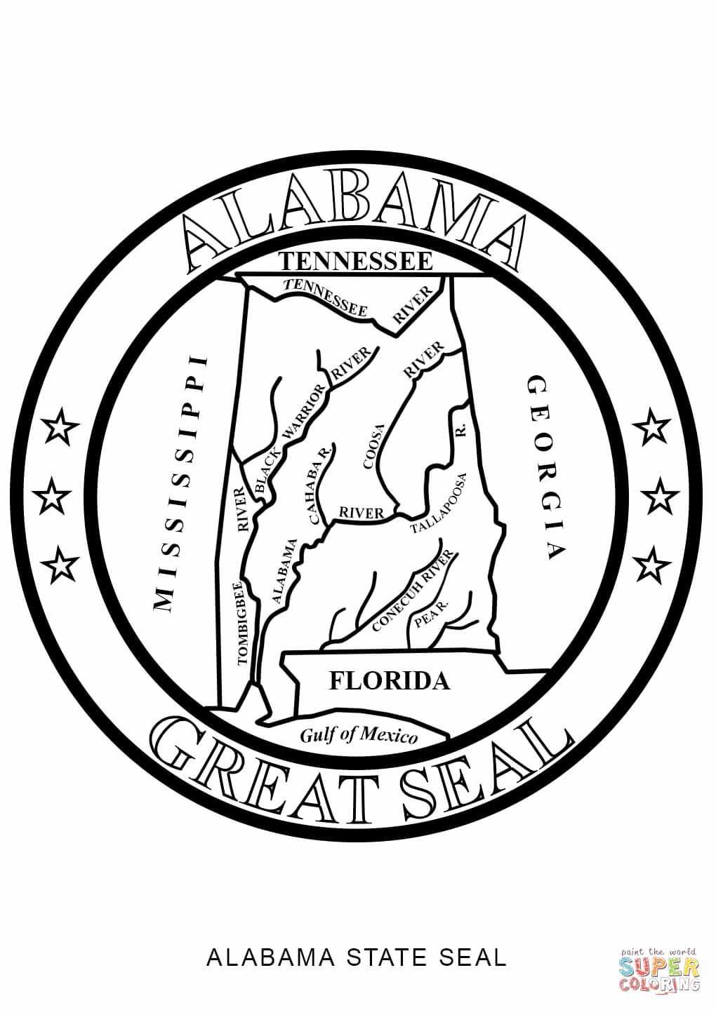Alabama Coloring Pages Printable  Download 14r - Free Download