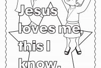 All About Me Coloring Pages - Jesus Loves Me Coloring Page Printable