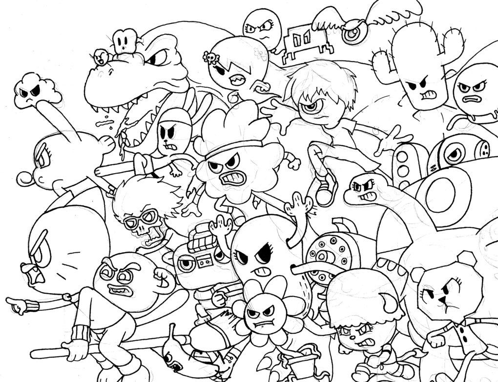 Amazing World Of Gumball Coloring Pages to Print  Printable 13g - Free For Children