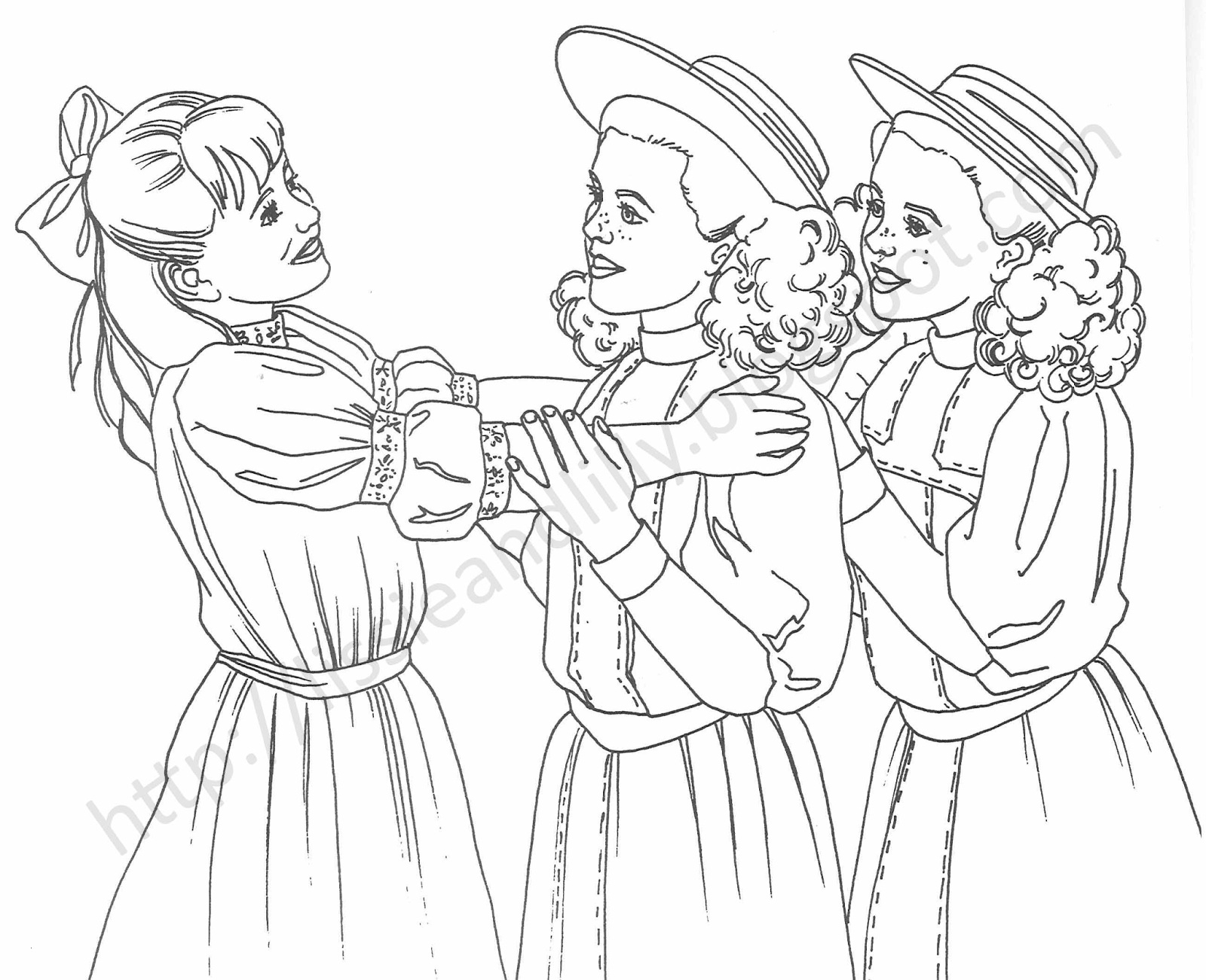 American Girl Dolls Coloring Pages  Gallery 8f - To print for your project