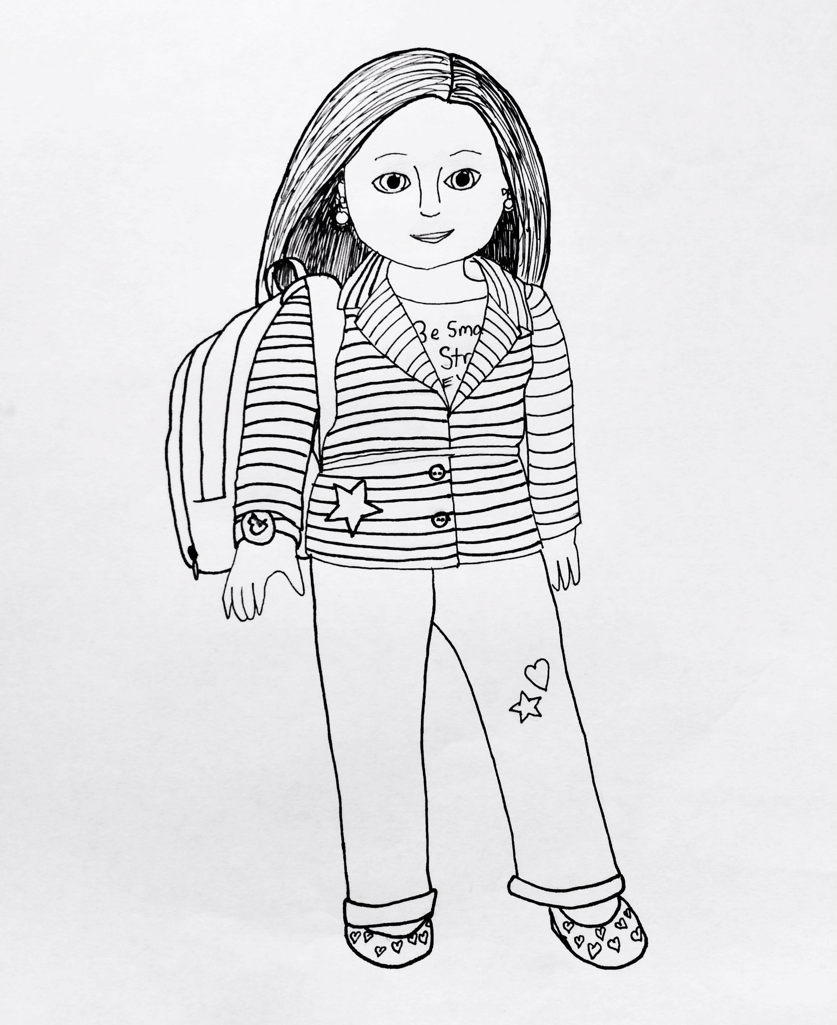 American Girl Dolls Coloring Pages  Gallery 3t - Free For kids
