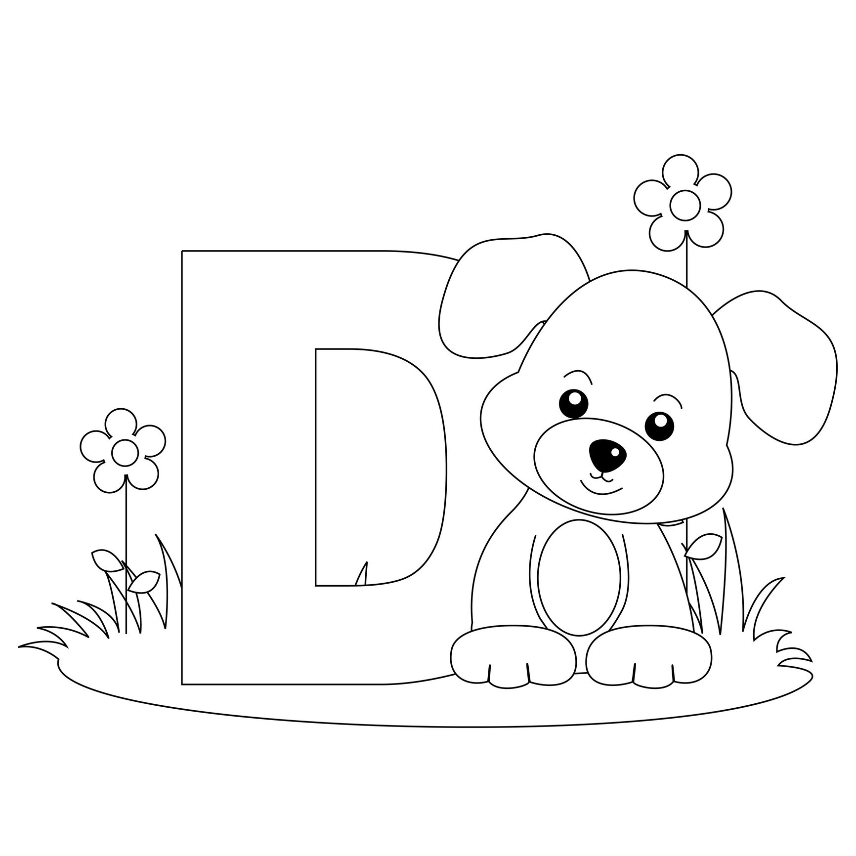 Animal Alphabet Coloring Pages  Collection 13g - To print for your project