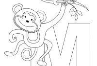 Animal Alphabet Coloring Pages - Animal Alphabet Letter M for Monkey Here S A Simple Animal Ruva