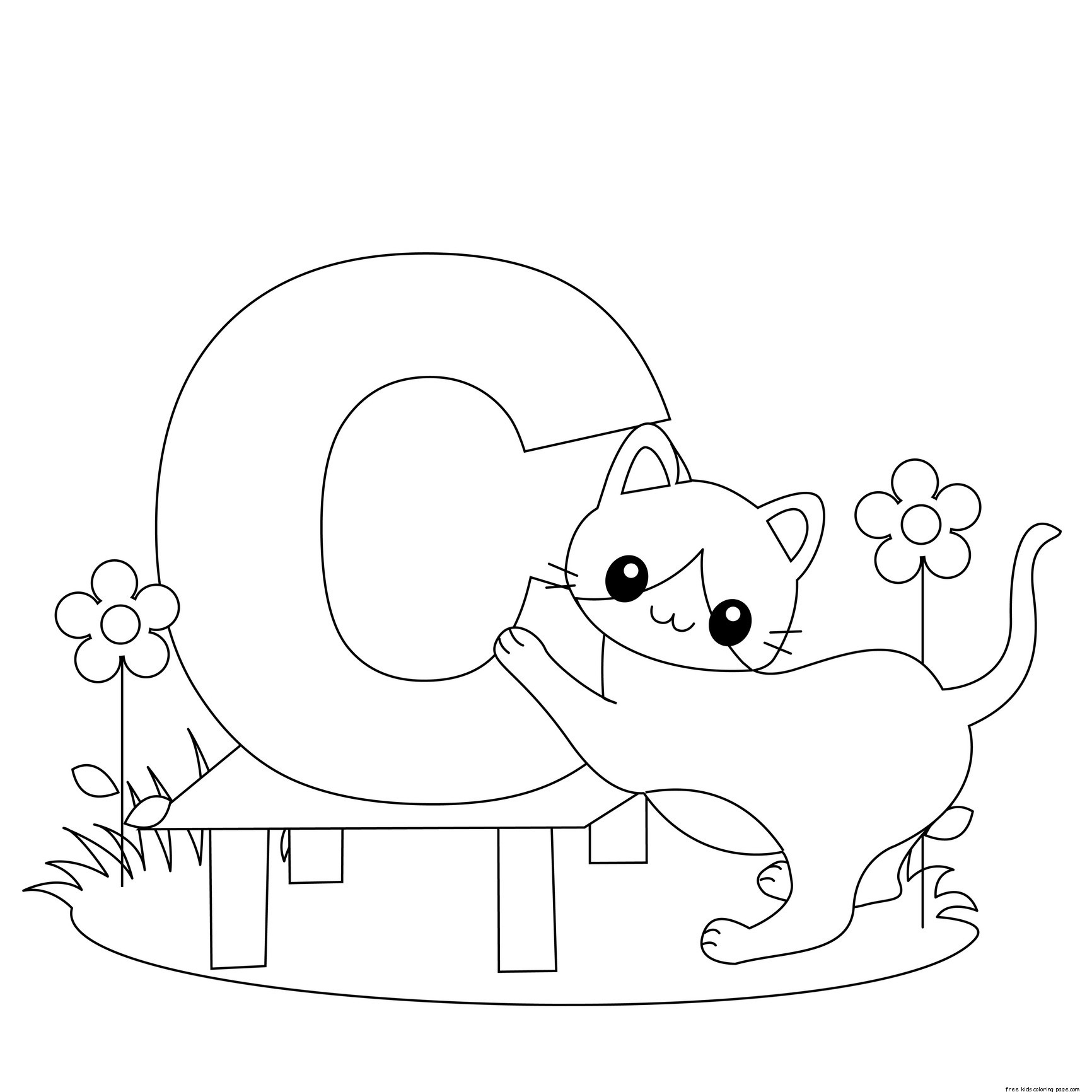 Animal Alphabet Coloring Pages  Collection 10n - To print for your project