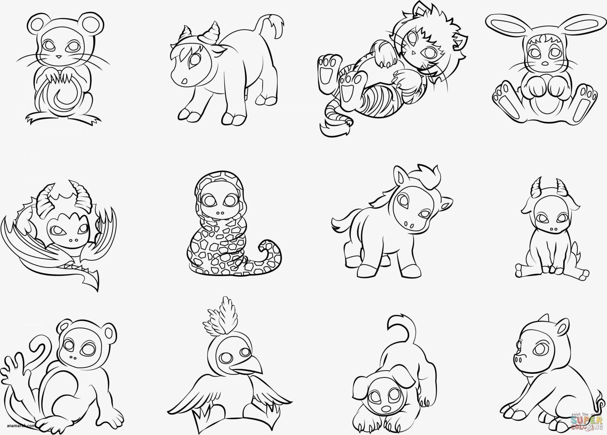 Animal Coloring Pages Pdf  to Print 14h - Free For Children