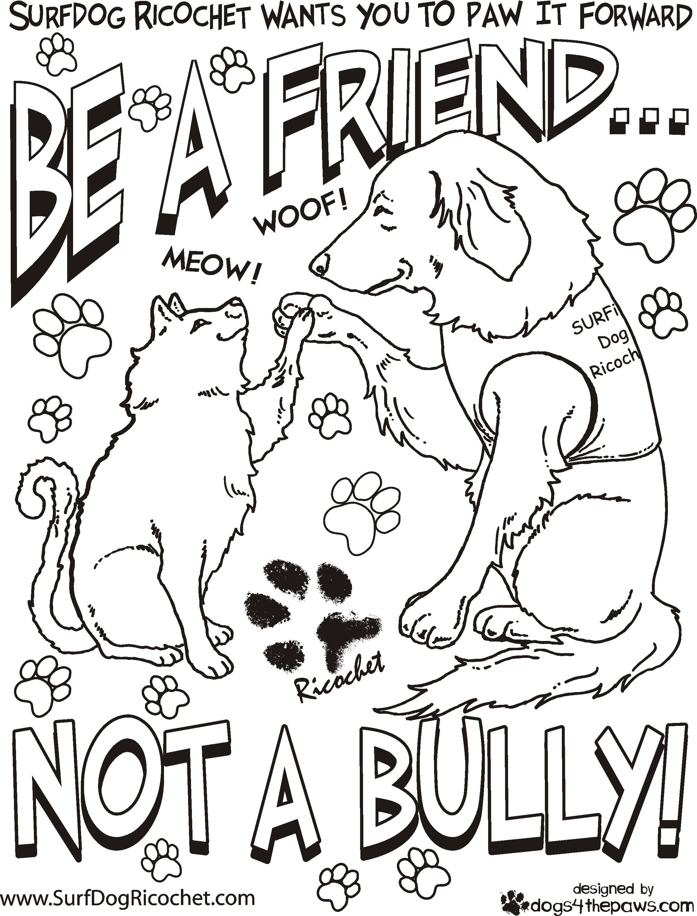 Anti Bullying Coloring Pages  Download 2k - Save it to your computer