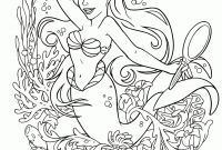 Ariel Coloring Pages Online - Disney Printable Coloring Pages Picture Hd Free Line Princess