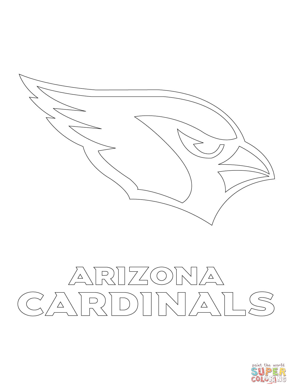 Arizona Cardinals Coloring Pages  Printable 14o - Free For Children