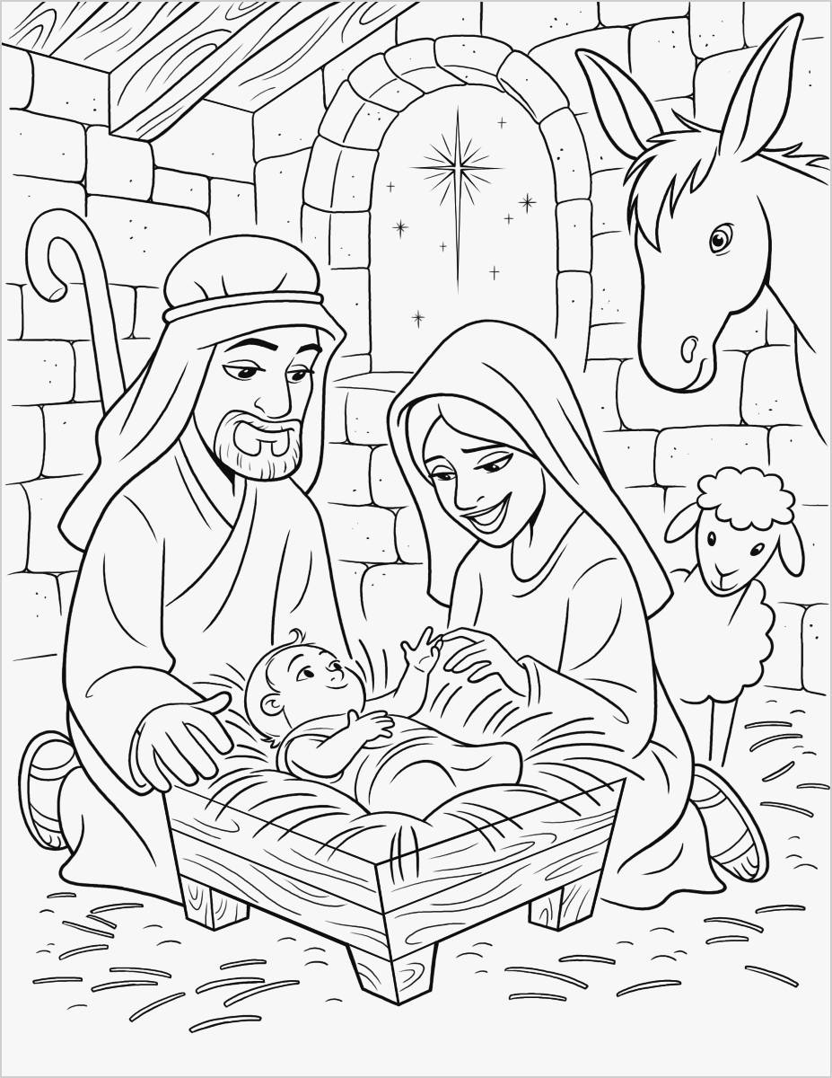 Baby Jesus Coloring Pages  Download 11o - To print for your project