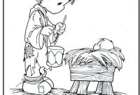 Baby Jesus Coloring Pages - Kids Coloring Page Precious Moments Little Drummer Boy Baby Jesus