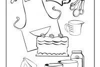 Baking Coloring Pages - 조리 Coloring Pages