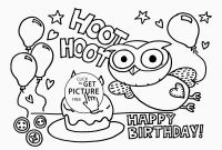 Baking Coloring Pages - New Happy Birthday Card Coloring