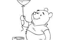 Balloon Coloring Pages Printable - Winnie the Pooh Coloring Pages
